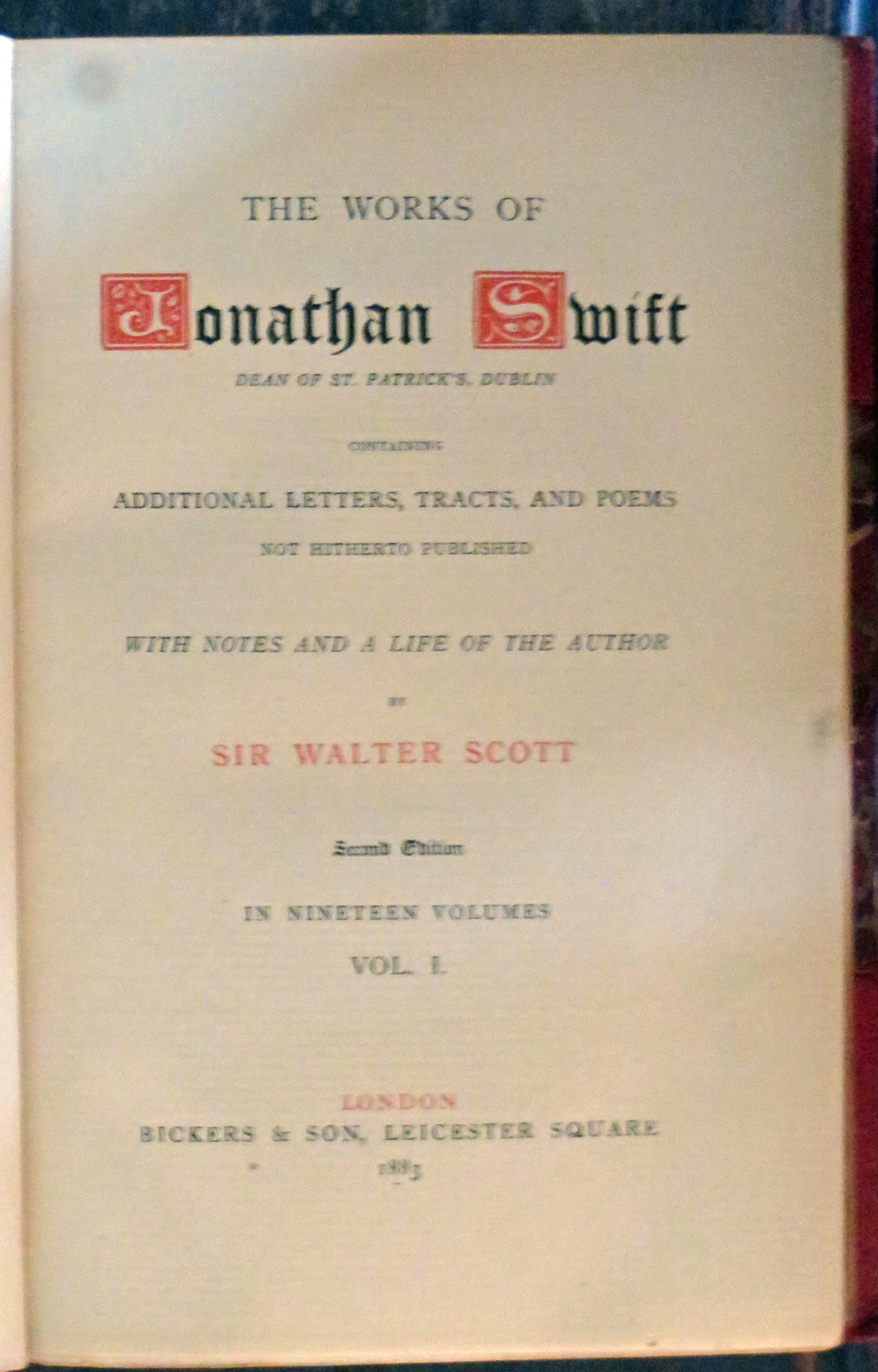 Image for The Works of Jonathan Swift