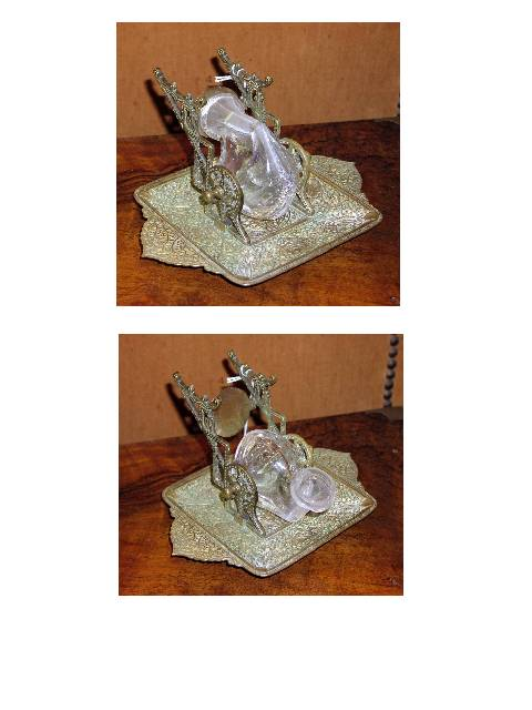 Image for Quartz Crystal Snail in Brass Stand