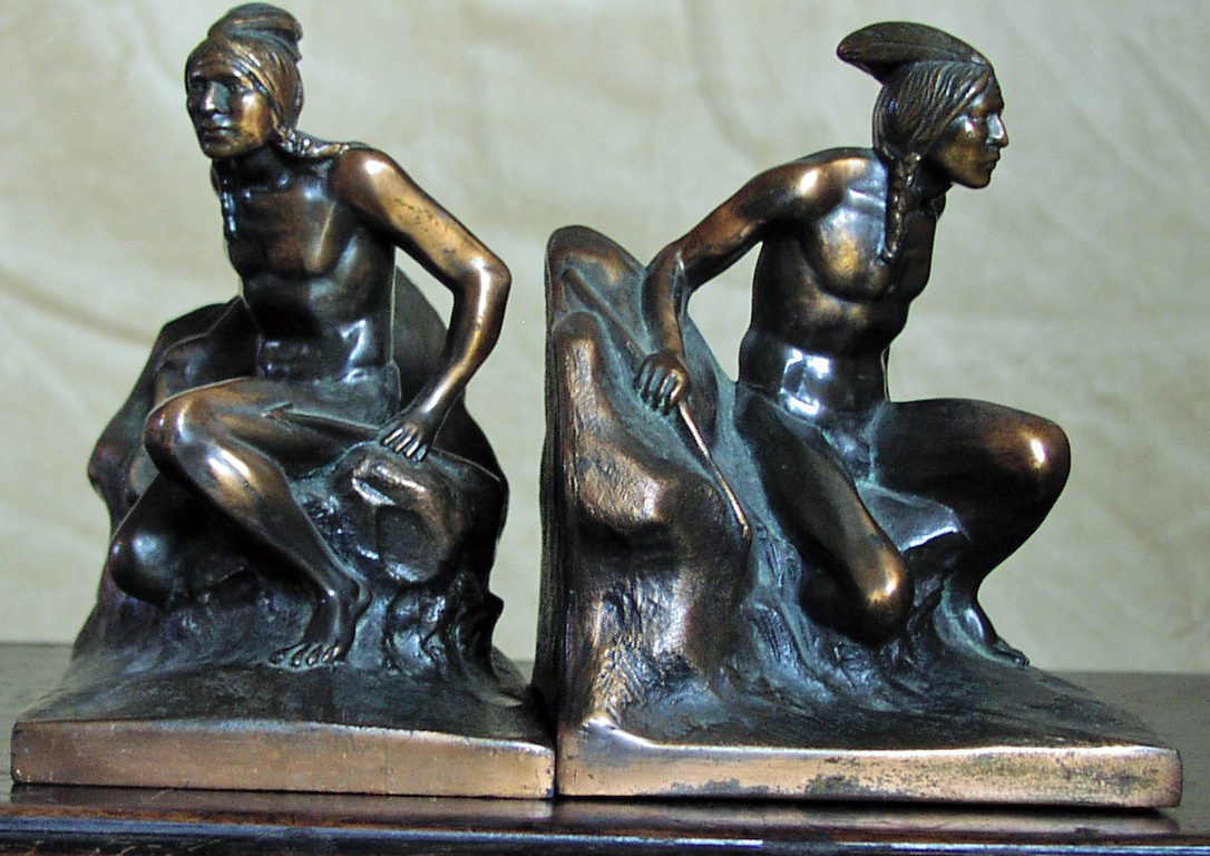 Image for Indian Crouching on Rocks Bookends
