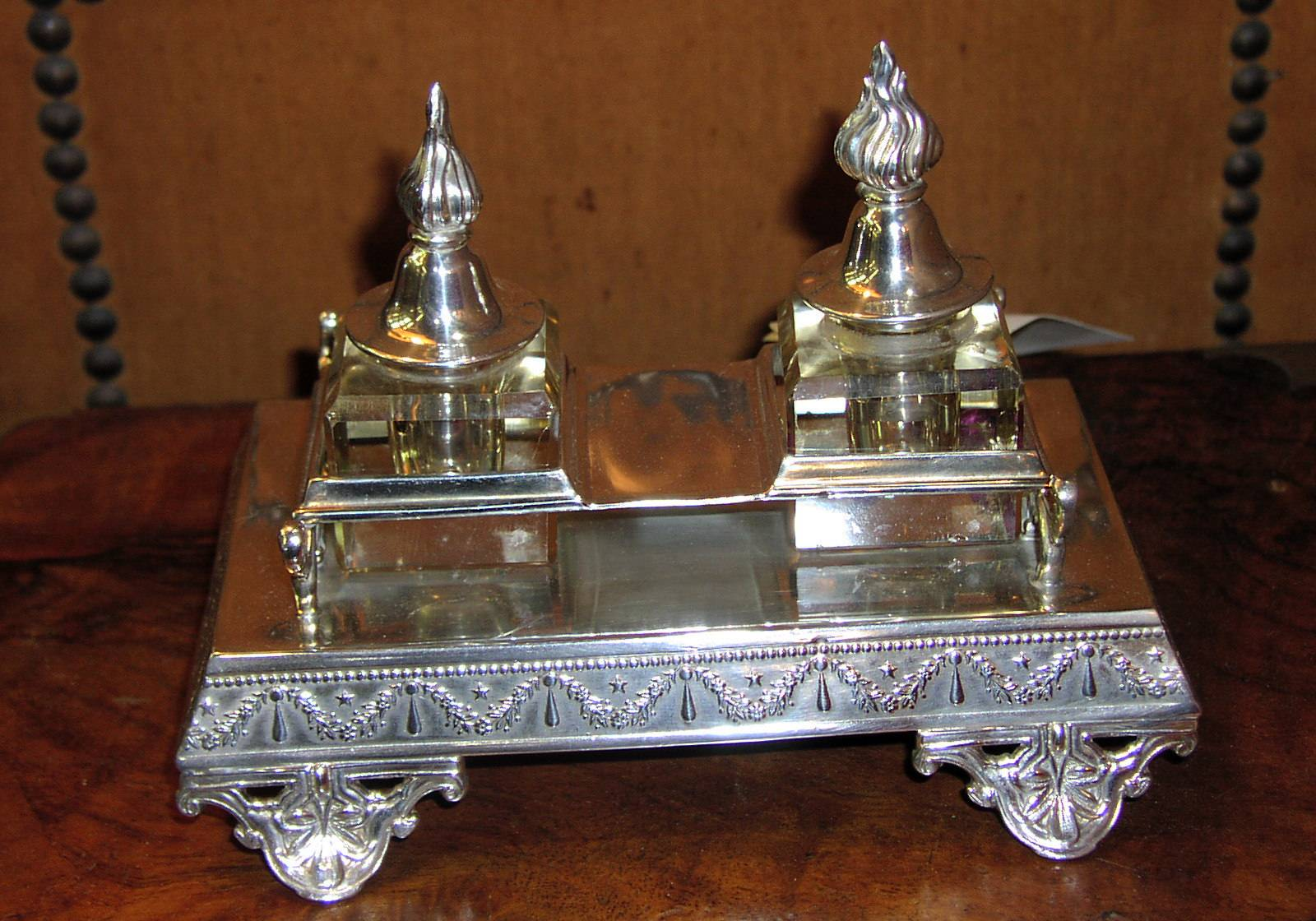 "Image for ""George Wish"" Hallmarked Inkstand."