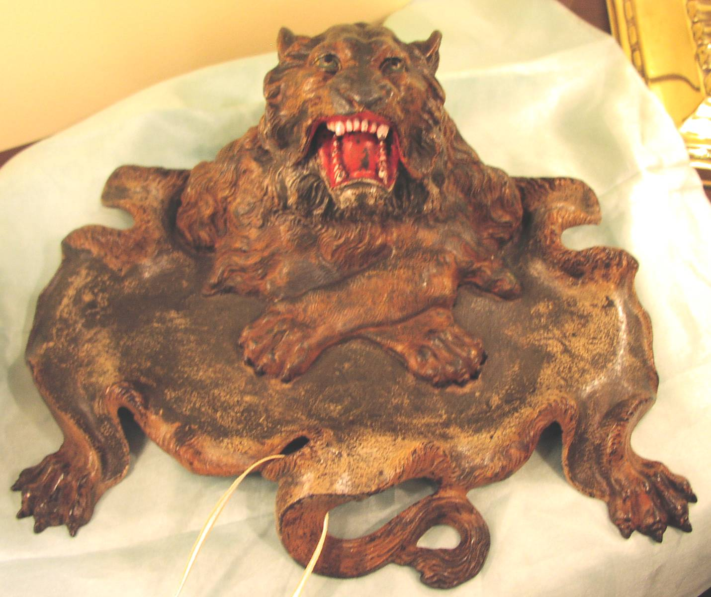 Image for Lion Figural Inkwell